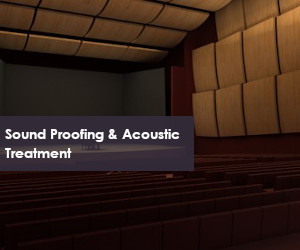 sound proofing and acoustic treatment for wall and ceiling