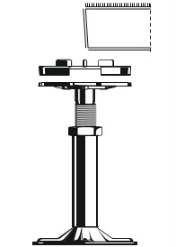 adjustable raised floor pedestal diagram