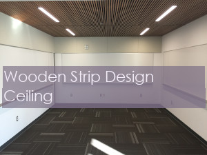 Wooden Grove Ceiling with Strip Design