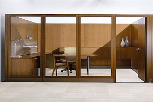 wooden frame partition
